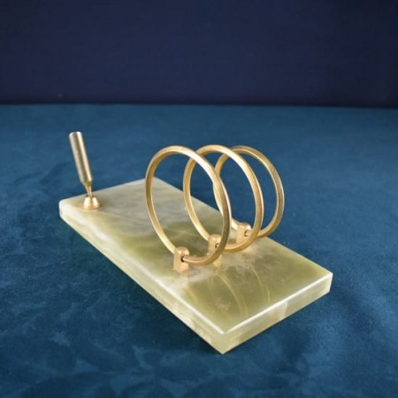 Desk organizer from marble